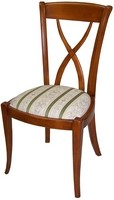 "Chaise Directoire "" Assise Tissu & Dos Croisillon """