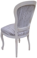 Chaise Louis Philippe Assise & Dos Tissu