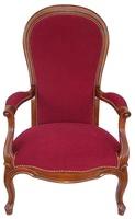 fauteuil voltaire dos violon riche - Prix Fauteuil Voltaire